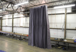 Insulated curtain closed