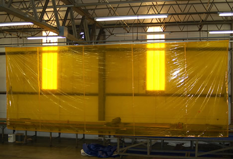 yellow film curtain