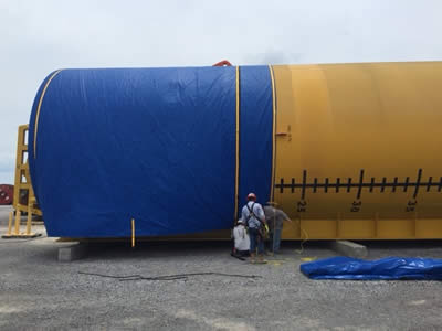 Large custom covers oil and gas equipment
